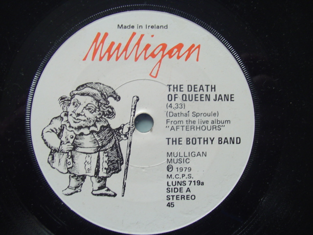 BOTHY BAND - DEATH QUEEN JANE - MULLIGAN RECORDS