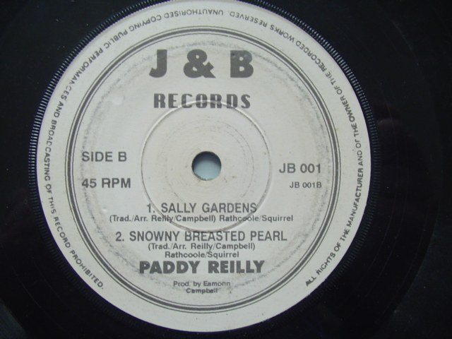 PADDY REILLY - SALLY GARDEN - RARE J & B RECORDS EP