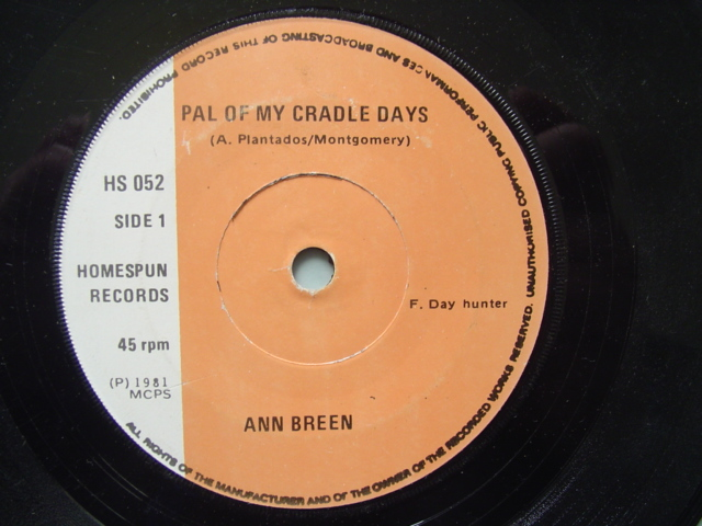 ANN BREEN - PAL OF CRADLE DAYS - HOMESPUN