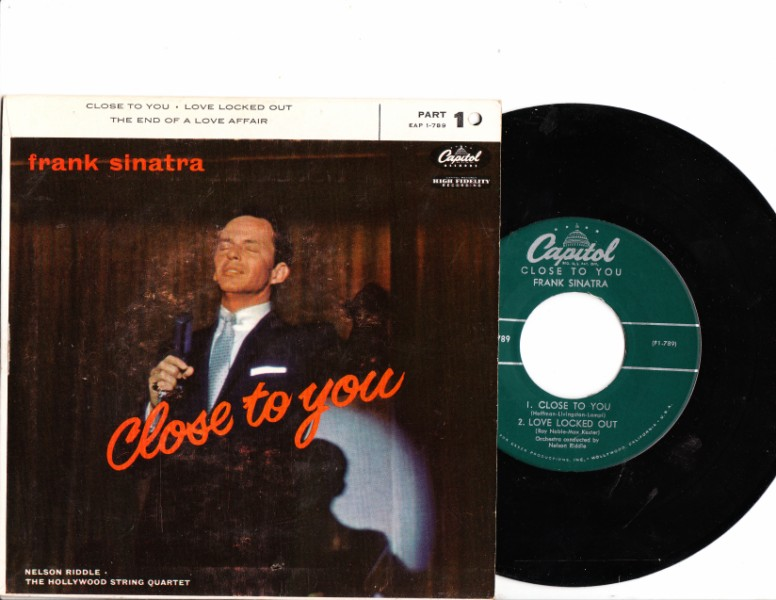 FRANK SINATRA - CLOSE TO YOU - CAPITOL EP