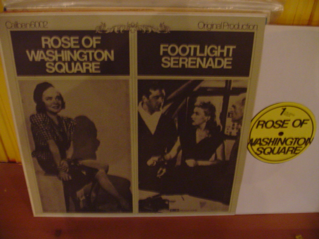 ALICE FAYE - ROSE OF WASHINGTON SQUARE - FOOTLIGHT SERENADE -