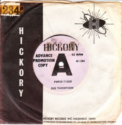 SUE THOMPSON - PAPER TIGER - HICKORY DEMO 3176