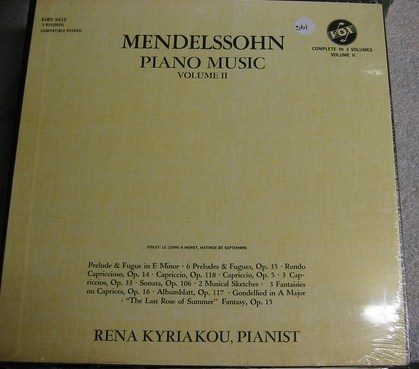 Rena Kyriakou - Mendelssohn Piano Music Vol 1 - Vox - Sealed