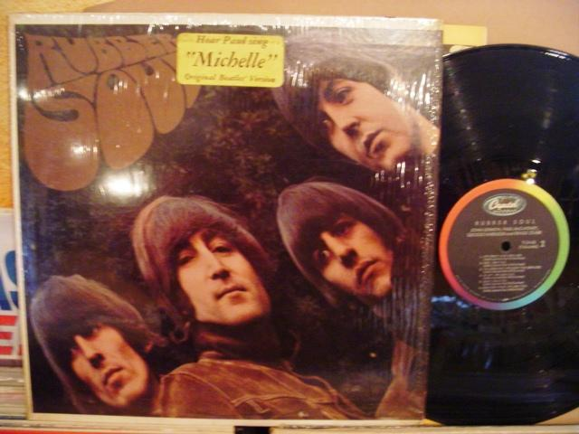 THE BEATLES - RUBBER SOUL - CAPITOL STICKER { 1441