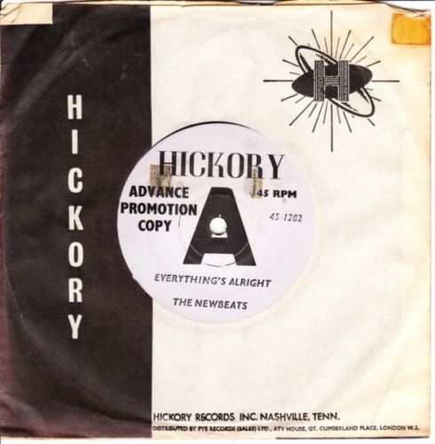 THE NEWBEATS - EVERYTHING'S ALRIGHT - HICKORY DEMO 3144