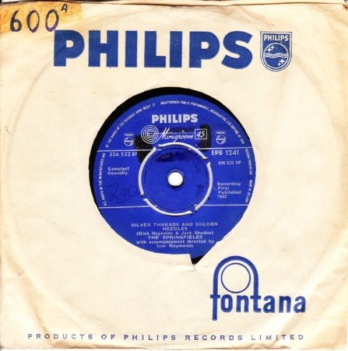 THE SPRINGFIELDS - AUNT RHODY - 1962 PHILIPS 3035
