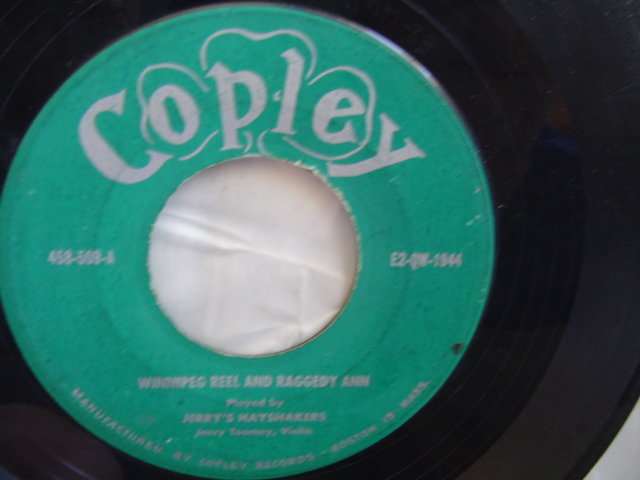 JERRY TOOMEY HAYSTACKERS - REELS - COPLEY RECORDS