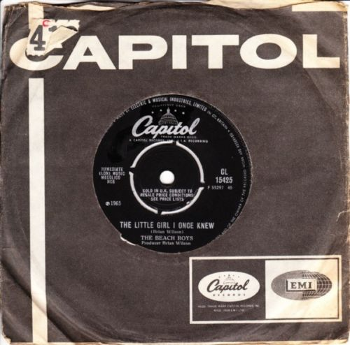 The Beach Boys - Little girl I once knew - Capitol UK 3437