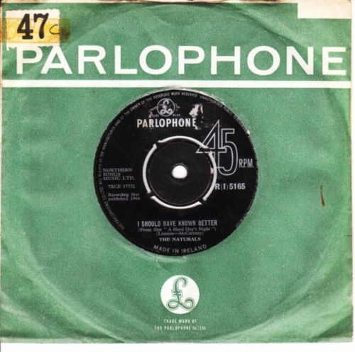 The Naturals - I should have know - Parlophone Irish 3248
