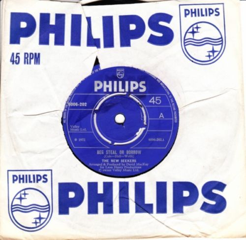 The New Seekers - Beg Steal or Borrow - Philips UK 3675