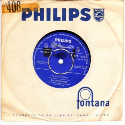 The Springfields - Far away places - Philips UK 3682