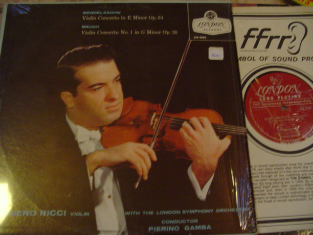RUGGIERO RICCI - VIOLIN MENDELSSOHN BRUCH LONDON