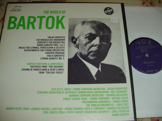 BARTOK - THE WORLD OF - VIOLIN STRING VOX 5LP