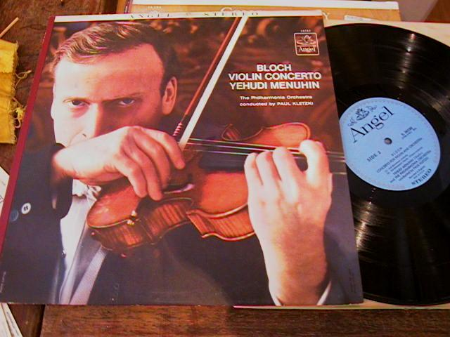 BLOCH - VIOLIN CONCERTO - MENUHIN - ANGEL - VC 5