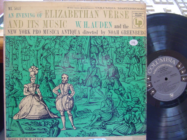 An Evening of Elizabethan Verse and Its Music - AUDEN COLUMBIA