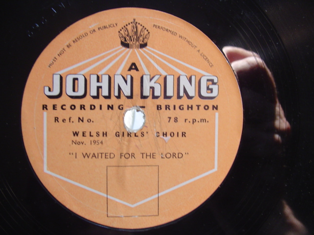 WELSH GIRLS CHOIR - JOHN KING RECORDING - 1954 { 652