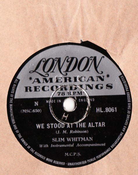 Slim Whitman - Rose Marie - London HL.8061 UK