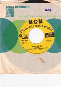 TOMPALL & GLAZER BROS - MORE OR LESS - MGM PROMO { 1107