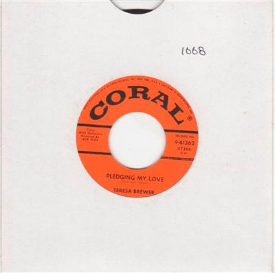 TERESA BREWER - PLEDGING MY LOVE - CORAL { 1068
