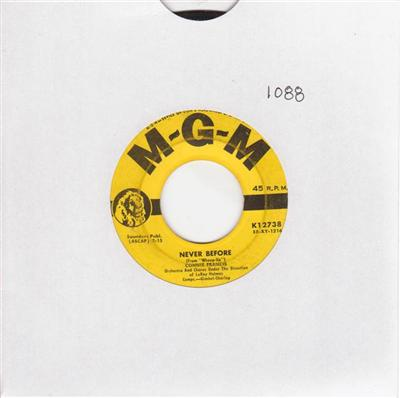 CONNIE FRANCIS - NEVER BEFORE - MGM { 1088