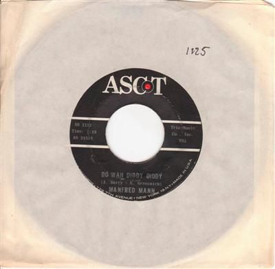 MANFRED MANN - DO WAH DIDDY DIDDY - ASCOT { 1125