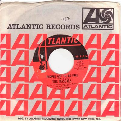THE RASCALS - PEOPLE GOT TO BE FREE - ATLANTIC { 1127