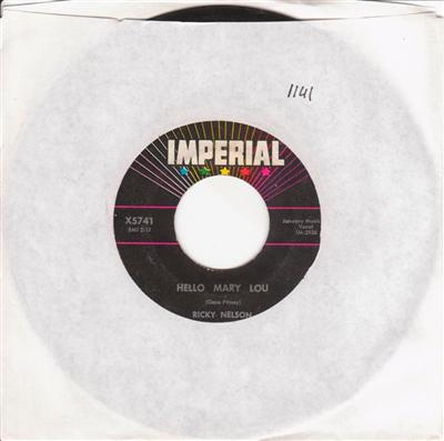 RICKY NELSON - - HELLO MARY LOU - IMPERIAL { 1141