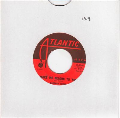 BARBARA LEWIS - MAKE ME BELONG TO YOU - ATLANTIC { 1149