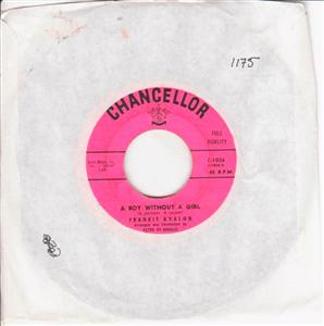 FRANKIE AVALON - BOBBY SOX - CHANCELLOR { 1175