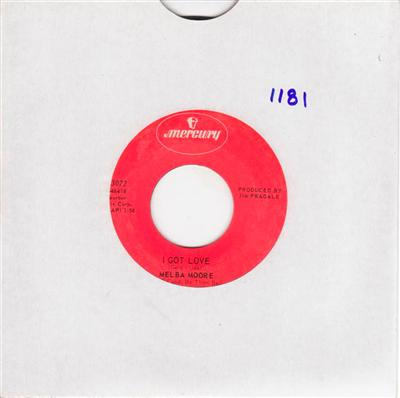 MELBA MOORE - I GOT LOVE - MERCURY { 1181