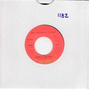 NANCY WILSON - WE CAN MAKE IT BABY - CAPITOL { 1182