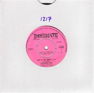 FLEETWOOD MAC - MAN OF WORLD - IMMEDIATE { 1217
