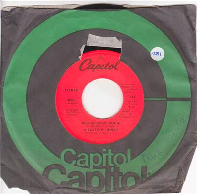 A TASTE OF HONEY - BOOGIE OOGIE - CAPITOL { 1281