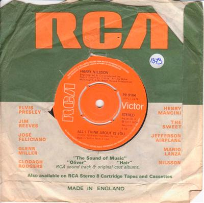HARRY NILSSON - I THINK ABOUT IS YOU - RCA UK 1373