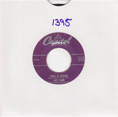 KAY STARR - WHEEL OF FORTUNE - CAPITOL 1395