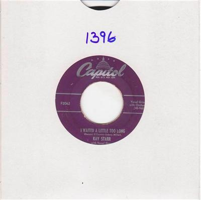 KAY STARR - ME TOO - CAPITOL 1396