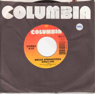 BRUCE SPRINGSTEEN - JERSY GIRL - COLUMBIA 1424