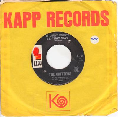 THE CRITTERS - MR. DIEINGLY SAD - KAPP 1492