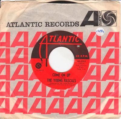 THE YOUNG RASCALS - COME ON UP - ATLANTIC 1494