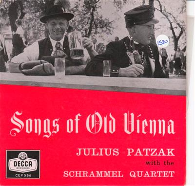 JULIUS PATZAK - SONGS OLD VIENNA - DECCA { 1520
