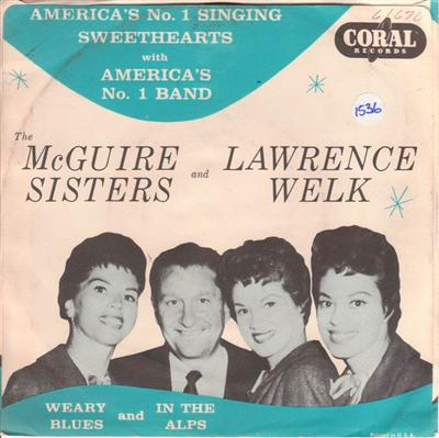 McGUIRE SISTERS - WEARY BLUES - CORAL { 1536