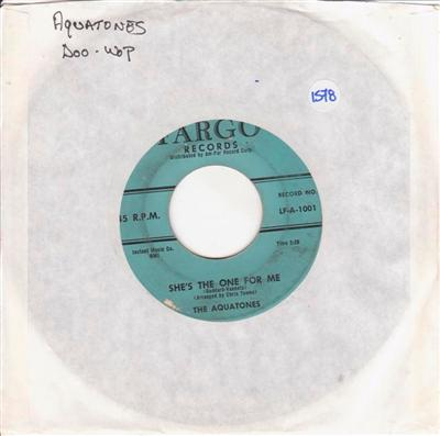 THE AQUATONES - YOU / SHES THE ONE FOR ME - FARGO 1578