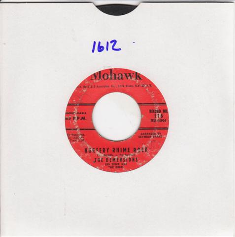 THE DEMENSIONS - OVER THE RAINBOW - MOHAWK 116 { 1612