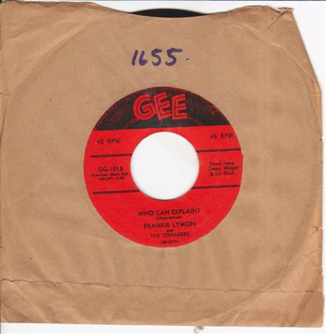 FRANKIE LYMON - PROMISE REMEMBER - GEE 1018 { 1655