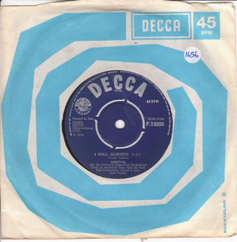ARIVAL - SEE THE LORD - DECCA 13026 IRISH PRESS { 1656