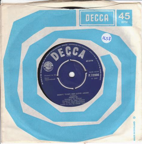 ARIVAL - FRIENDS - DECCA 12986 IRISH PRESS { 1657