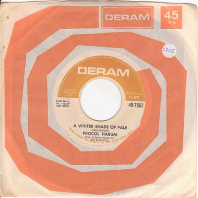 PROCOL HARUM - WHITER SHADE PALE - DERAM 7507 { 1725