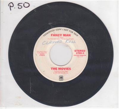 THE MOVIES - FANCY MAN - A & M PROMO { P 50