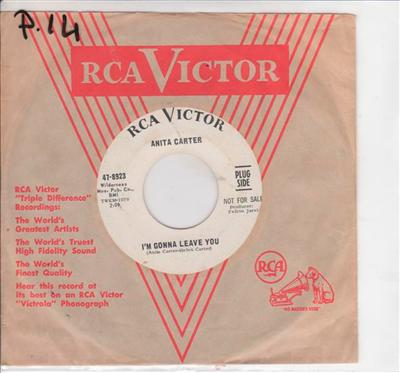 ANITA CARTER - IM GONNA LEAVE YOU - RCA PROMO { P 14