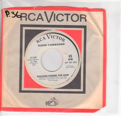 GLENN YARBROUGH - GENTLY HERE - RCA PROMO { P 36